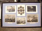 click to view detailed description of A grouping of Civil War period engravings depicting